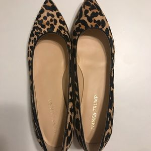 Leopard Pointed Toe Flats